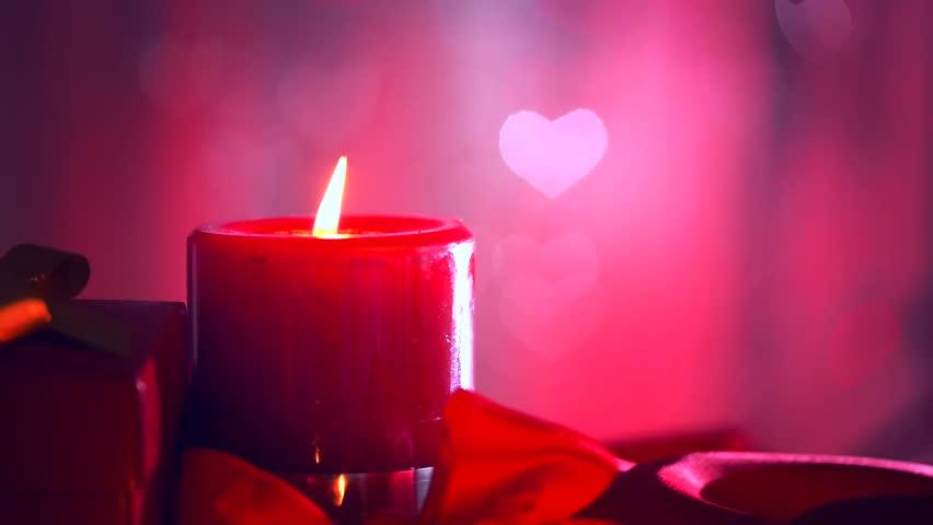 Romantic Valentine S Day Candles Romance Valentine Heart