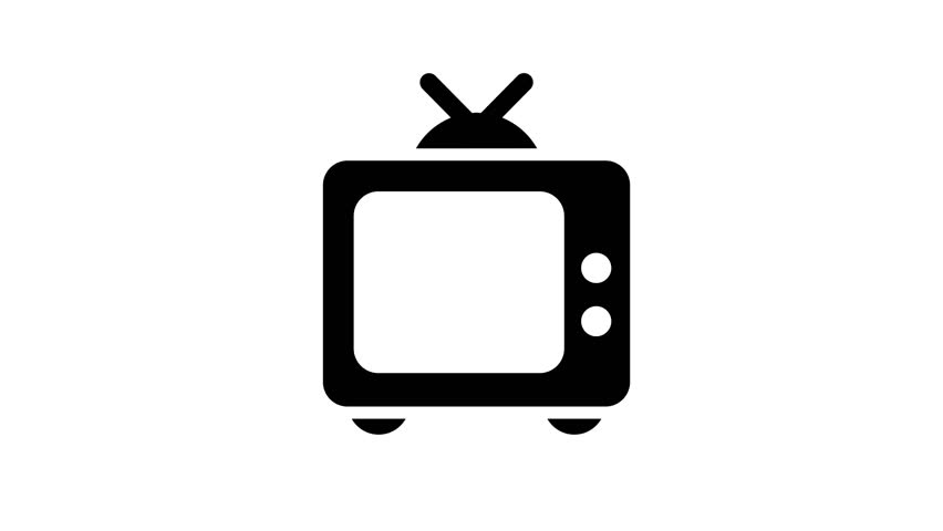 television alpha channel clean large icons with