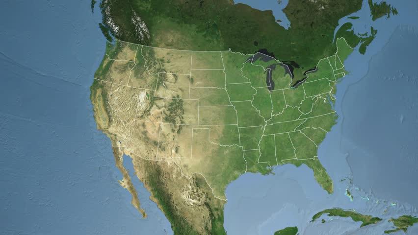 Idaho Animation Map Political Divisions Of The United States Stock - United states map idaho