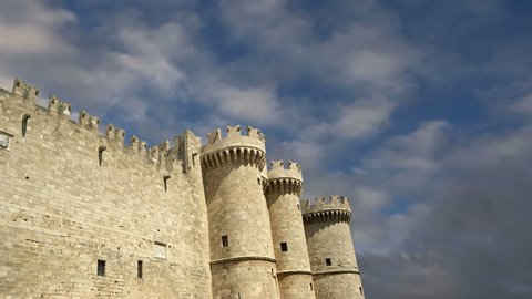 Rhodes Island, Greece, a symbol of Rhodes, of the famous Knights Grand Master Palace (also known as Castello) in the Medieval town of rhodes, a must-visit museum of Rhodes.