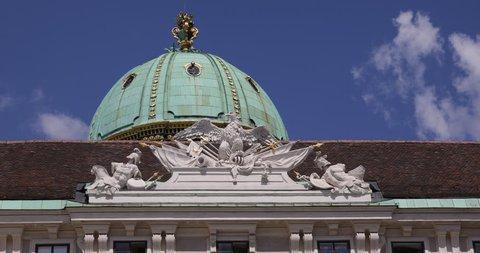 President Residence Hofburg Imperial Palace Close Up Vienna Building Kopula Dome ( Ultra High Definition, UltraHD, Ultra HD, UHD, 4K, 2160P, 4096x2160 )