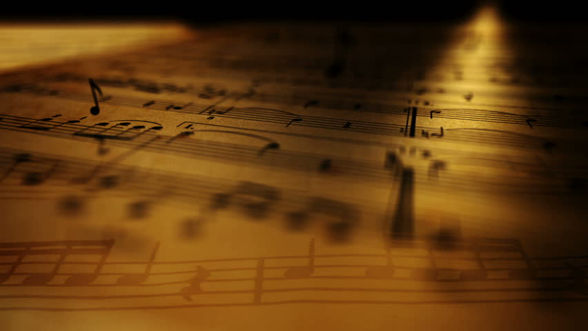 Animated background with musical notes. | Shutterstock HD Video #8595721