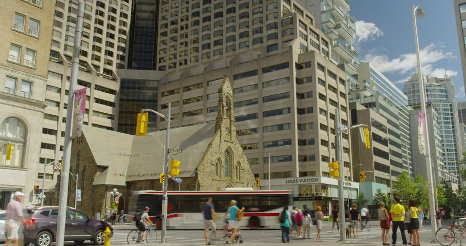 Toronto - June 5th 2013: Royal Ontario Museum Time Lapse, shot on Red Scarlet at 5k.