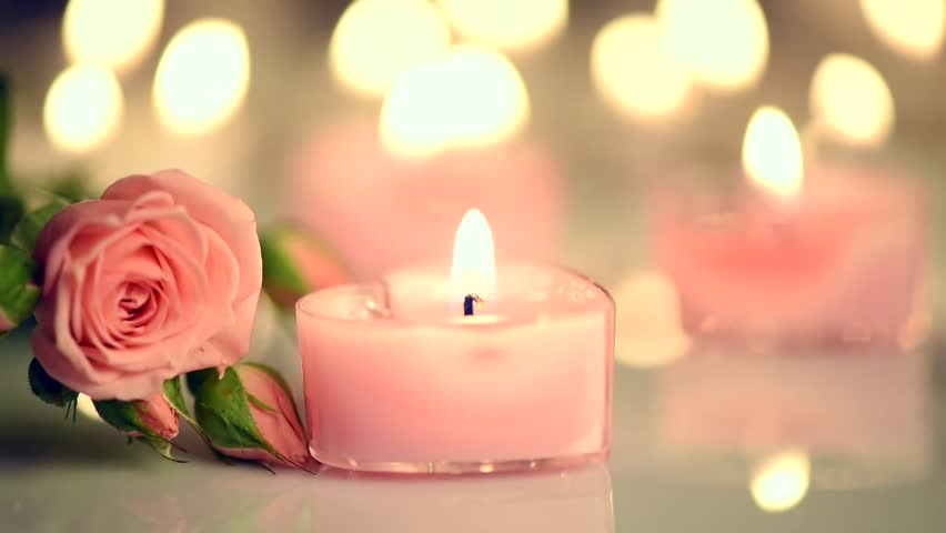 Romantic Valentines Day Candles And Stock Footage Video 100