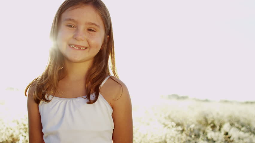 Teenager Communicates By Webcam, A Young Girl Is Very Emotional Stock Footage Video -4067