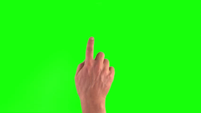 4k: 18 touchscreen gestures in 3840×2160. Set of hand gestures.Showing the uses of computer touchscreen tablet trackpad on green screen. modern technology #8751001