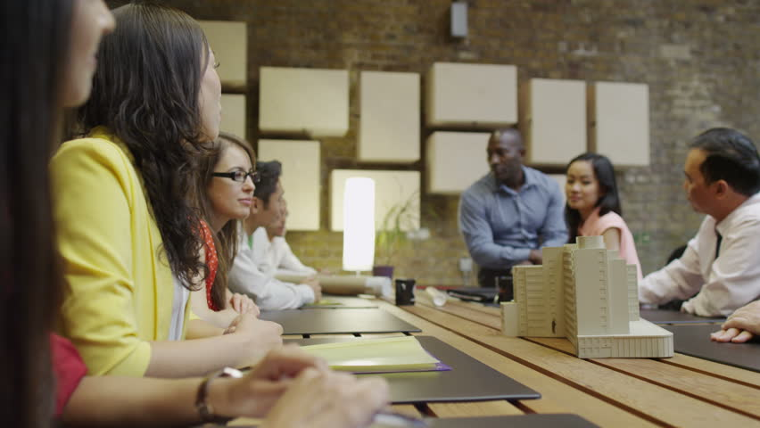 4K Team of architects in a design meeting   Shutterstock HD Video #8751250
