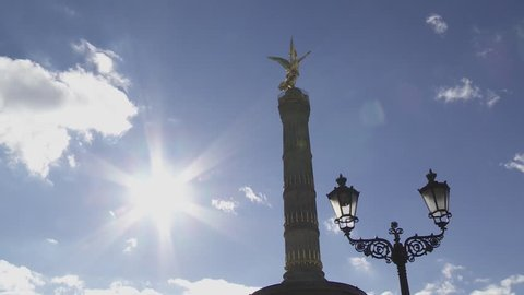 Berlin Victory Column Siegessaeule in Berlin Germany. Iconic Democracy Symbol