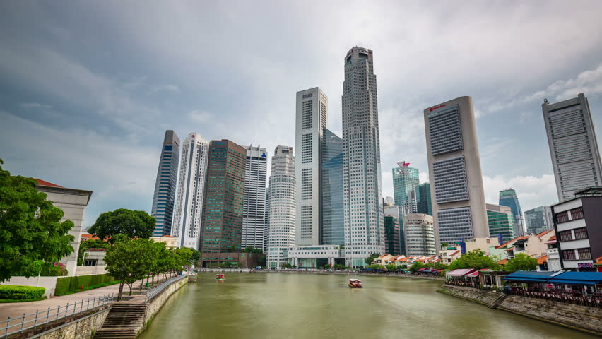 day light singapore downtown gulf 4k time lapse