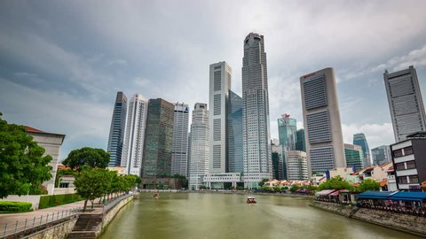 day light singapore downtown gulf 4k time lapse