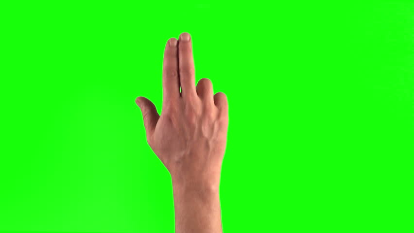 4k: 18 touchscreen gestures in 3840 x 2160. Set of hand gestures.  Showing the uses of computer touchscreen tablet trackpad or ipad with green screen. modern technology #8800951