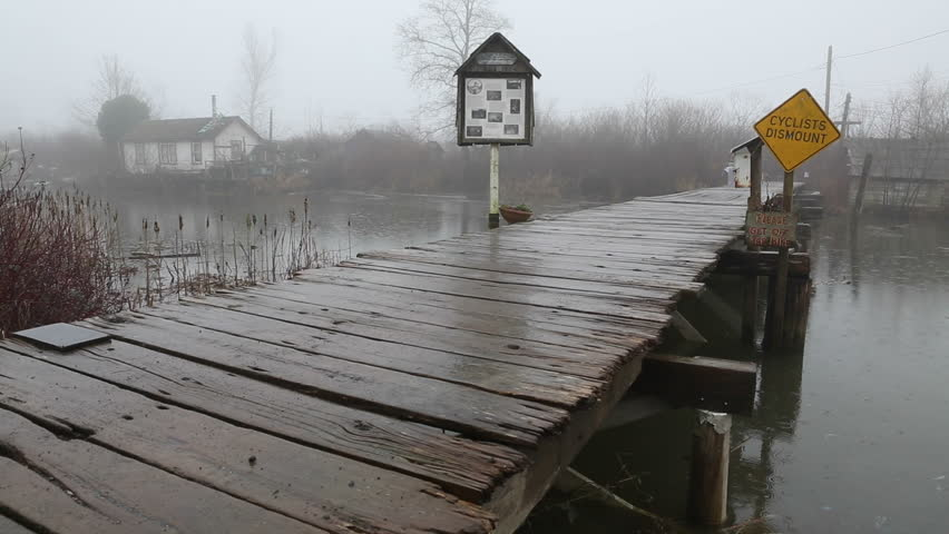 Finn Slough Pedestrian Bridge Rain, Stock Footage Video (100% Royalty-free)  8826721 | Shutterstock