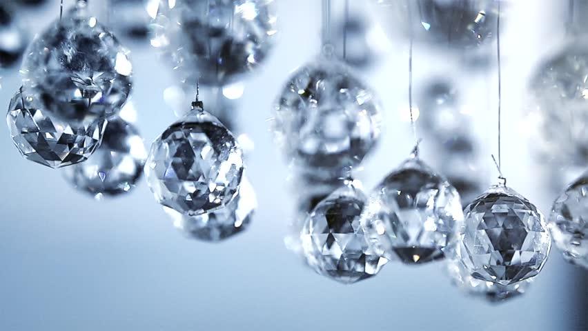 Crystals Closeup. Crystal Modern Chandelier Detail Background ...