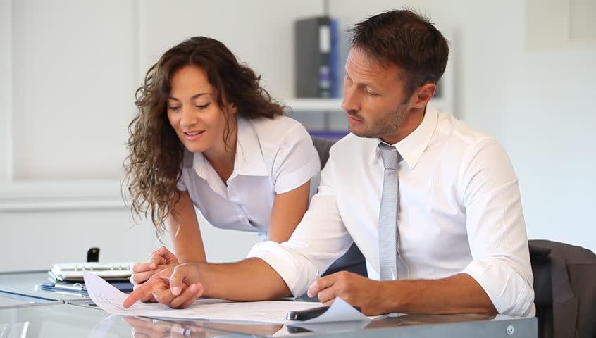 Co-workers in the office | Shutterstock HD Video #889831