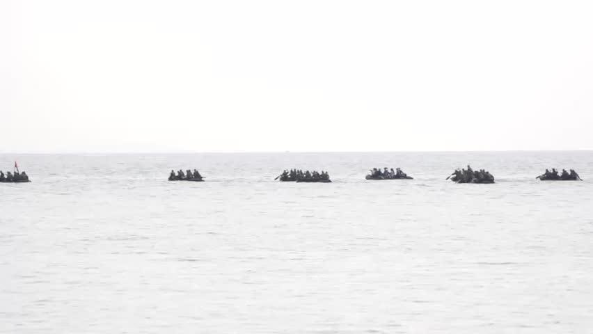soldier rafting