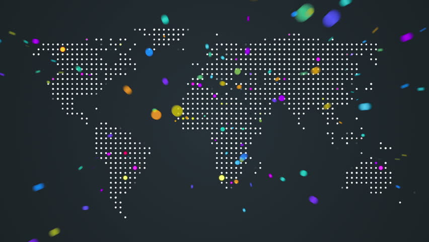 Abstract world map with light beams and colorful dots ideal for abstract world map with light beams and colorful dots ideal for technology broadcast background color earth map different colors in my profile stock gumiabroncs Images