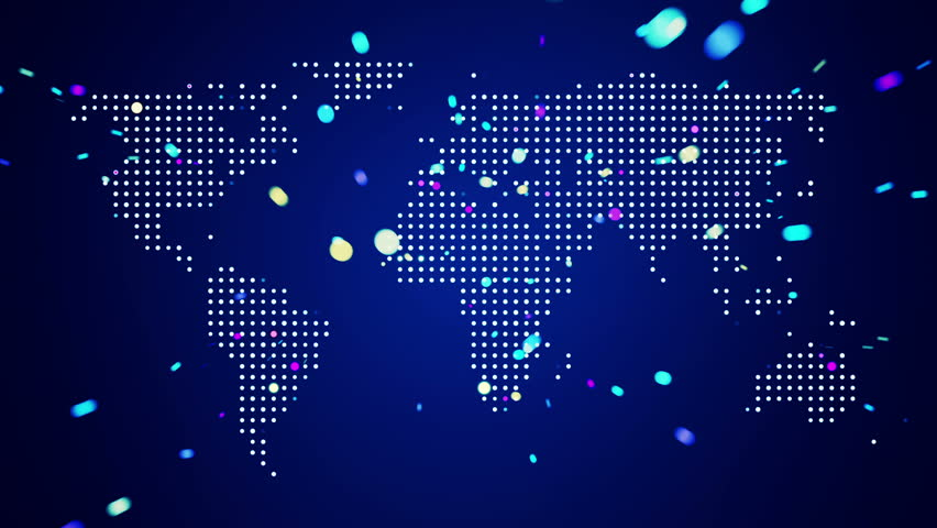 Abstract world map with light beams and colorful dots ideal for abstract world map with light beams and colorful dots ideal for technology broadcast background color earth map different colors in my profile gumiabroncs Image collections