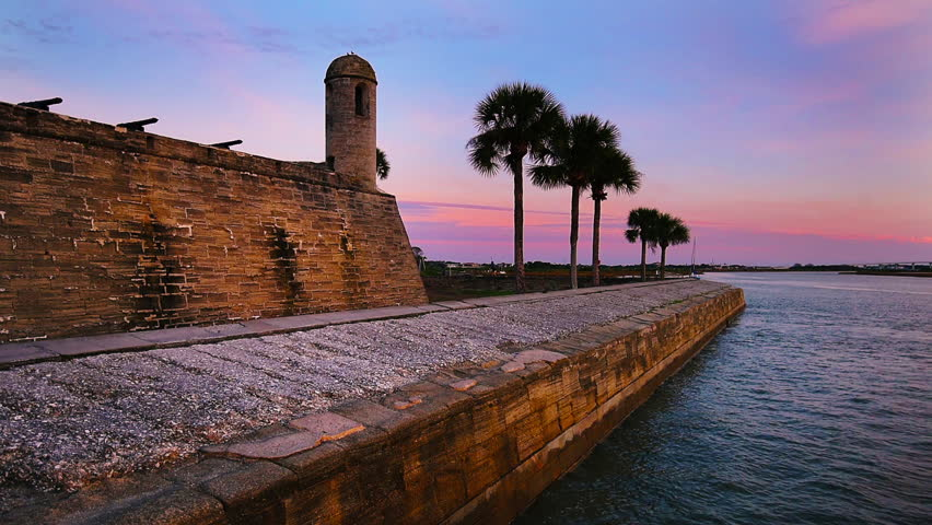 St. Augustine, Florida, USA at Castillo de San Marcos National Monument.