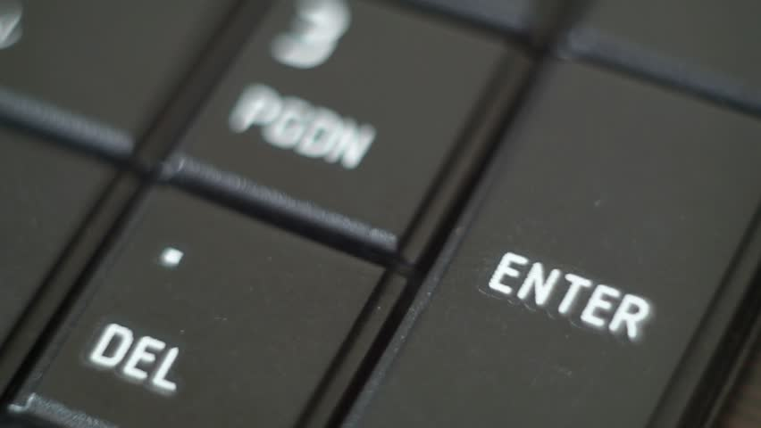 Button Black PC Keyboard Typing  | Shutterstock HD Video #9008401