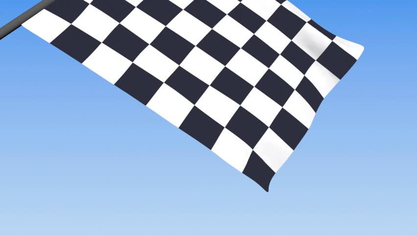 Checkered Racing Flag - 3d animation, seamless loop