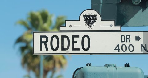 Rodeo Drive street sign in Beverly Hills