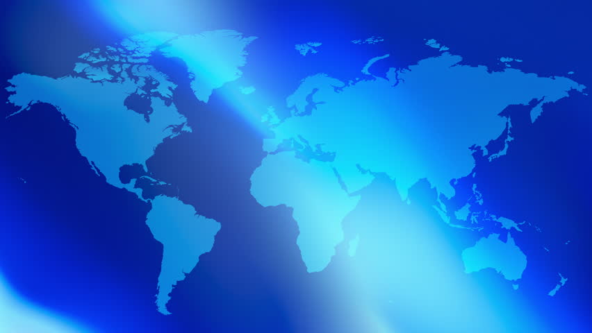Blue abstract presentation background world map 4k videos de metraje blue title world map background 4k 4k stock footage clip gumiabroncs Image collections