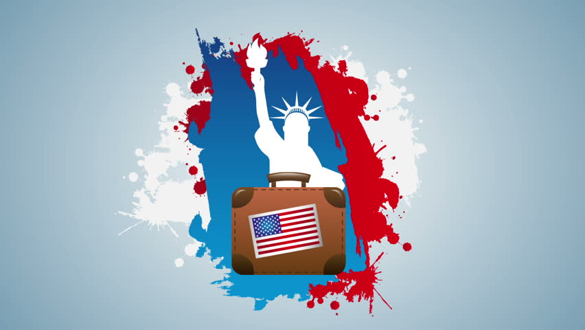 Usa travel, Video animation, HD 1080