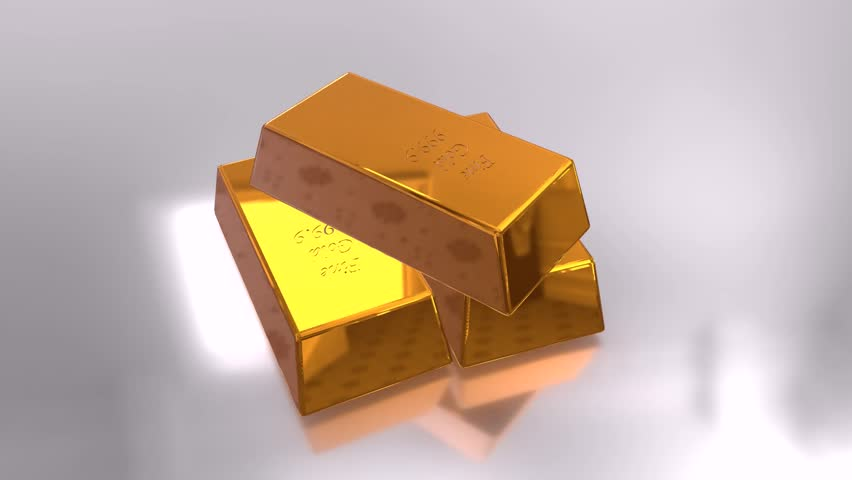 Gold Bars Pyramid 3d Animation High-definition, HD 1920 X ...