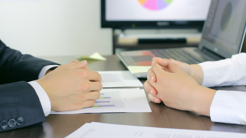 Important business meeting in the workplace, results review | Shutterstock HD Video #9151511