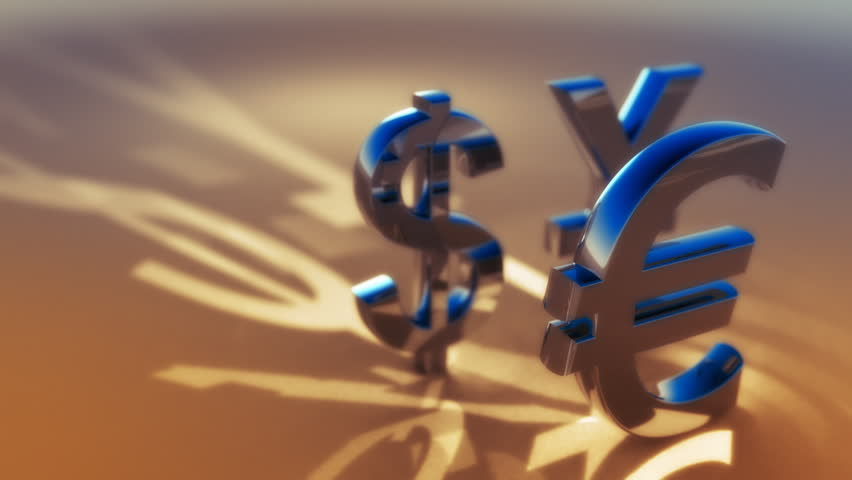 3d animated symbols of main global currency - dollar, euro, yuan. Seamless loop. | Shutterstock HD Video #919162