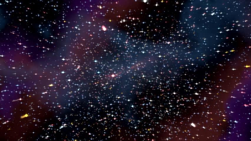 Space hyperspace travel through starfield nebula #9195731