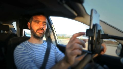 Driver use phone while driving