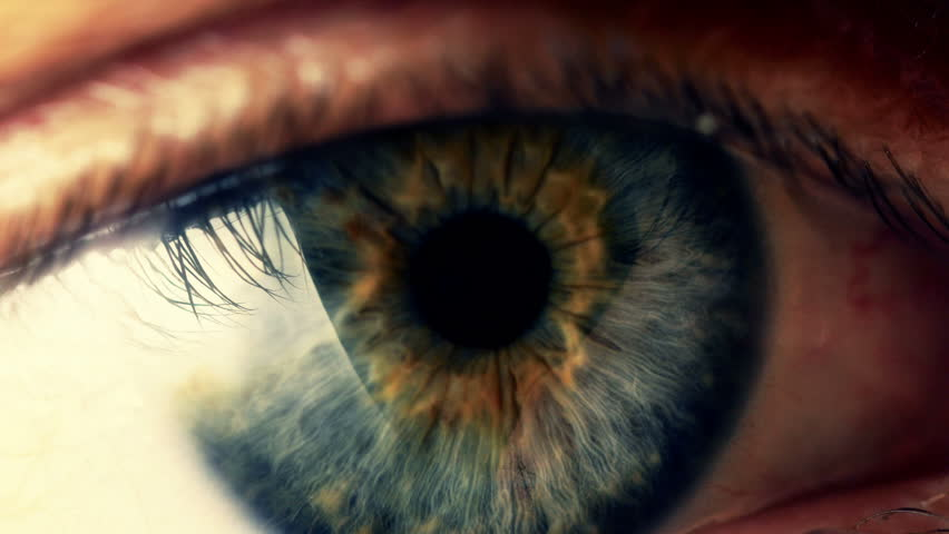 Extreme close up human eye iris in 4K UHD video. | Shutterstock HD Video #9215351