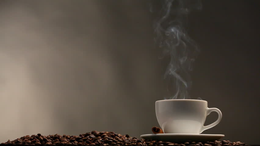 cup of coffee on black stock footage video 100 royalty