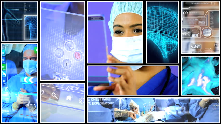 Clinical health motion graphics touchscreen analysis blood cells scientist DNA | Shutterstock HD Video #9276521