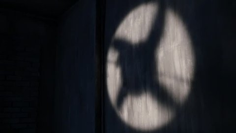Shadow of a rotating Fan on the wall