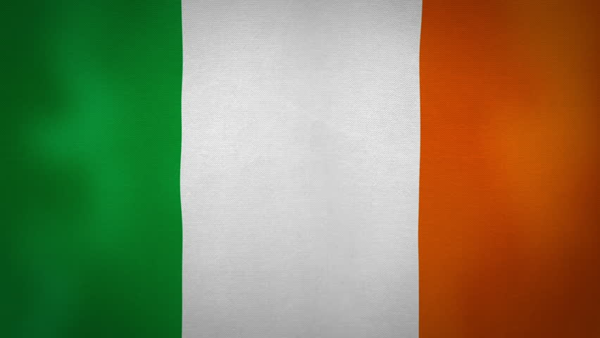 4K 3D Animation Of Green White And Orange Irish Ireland