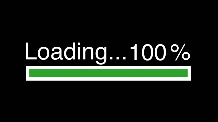 green loading bar 4k video animation green bar on black screen download 100 complete stock footage video