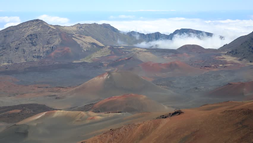 Volcanic cones in haleakala national park maui hawaii stock haleakala national park maui hawaii hd stock footage clip publicscrutiny Image collections