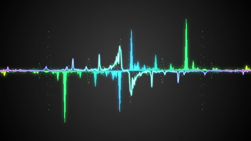 sound waves moving graphic illustration concept of music