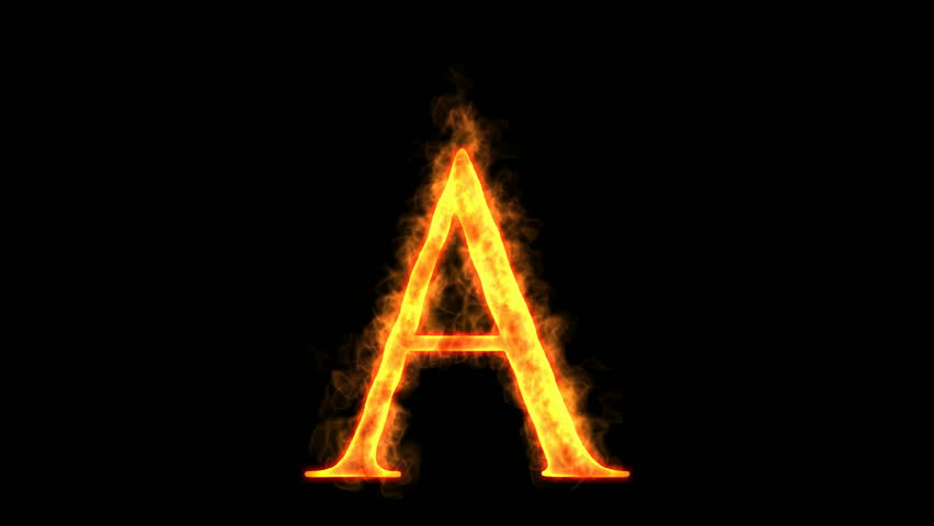Letter A Fire Stock Footage Video