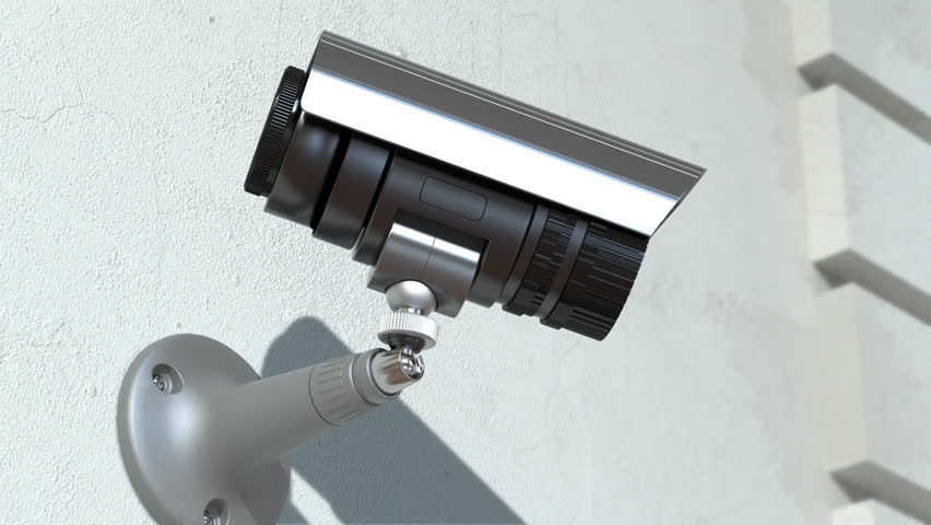 wondered surveillance camera, loop-able 3d animation