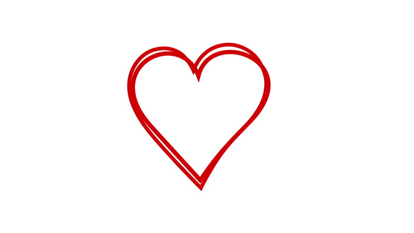 Heart Symbol Being Drawn On White Background Stock Footage Video