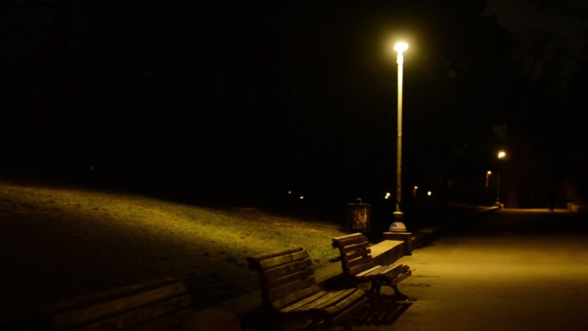 Night Park Benches And Stock Footage Video 100 Royalty Free