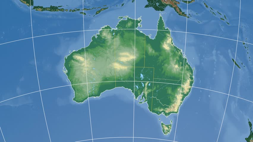 Australia Map Rivers.New South Wales Extruded On Stock Footage Video 100 Royalty Free 9470561 Shutterstock