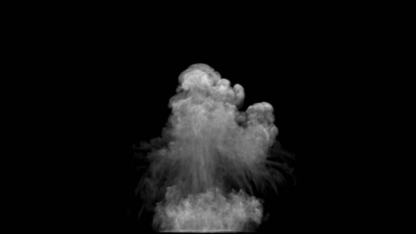 Smoke explosion and rising up mushroom