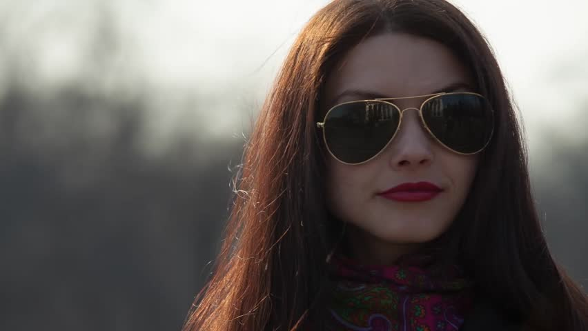f7051ec64e Girl in Sunglasses Stock Footage Video (100% Royalty-free) 9515891 ...