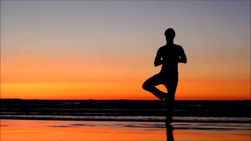 Runner Man Sprinting Running Fast On Road At Sunset. Male ...  Runner Man Spri...