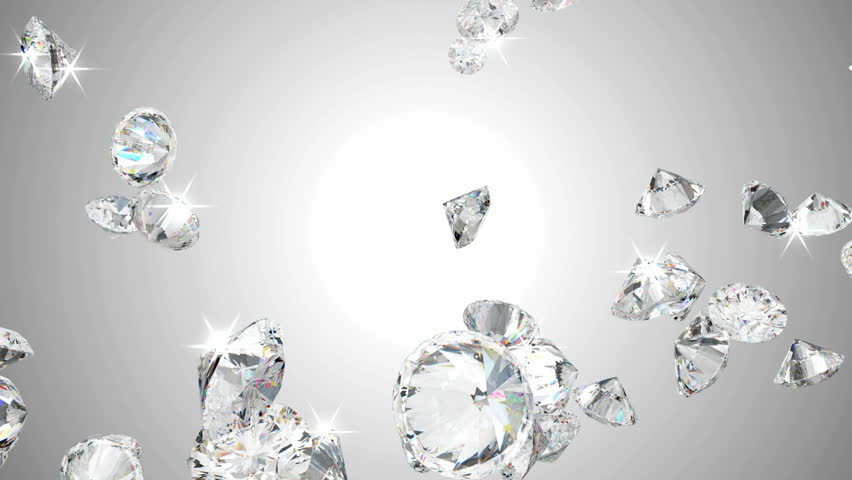 Large diamonds flow in slow motion