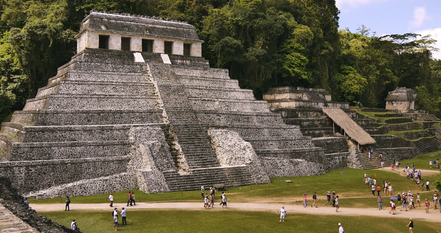 MEXICO - CHIAPAS - CIRCA APRIL 2015 - Palenque was a Mayan city in southern Mexico that flourished in the 7th century. Once a part of Guatemala, the Palenque ruins date from circa 226 BC to AD 799.